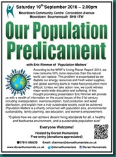 Our Population Predicament 10 September 2016