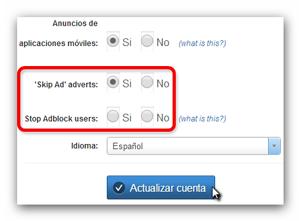 Adfly Adblock Adverts