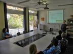 Deskundige uitleg aan het demoteam van RTD voor het spellenspektakel 2013