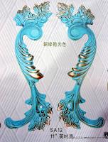 裝潢五金 品名:SA12-古典花型大把手 規格:300m/m 材質:銅製品 顏色:銅綠拋光色 玖品五金
