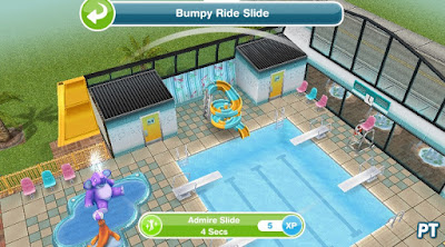 Sims FreePlay It's All Going Swimmingly - Admire swim center slide