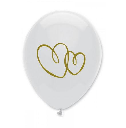 Ballonger Hjärtan - guld