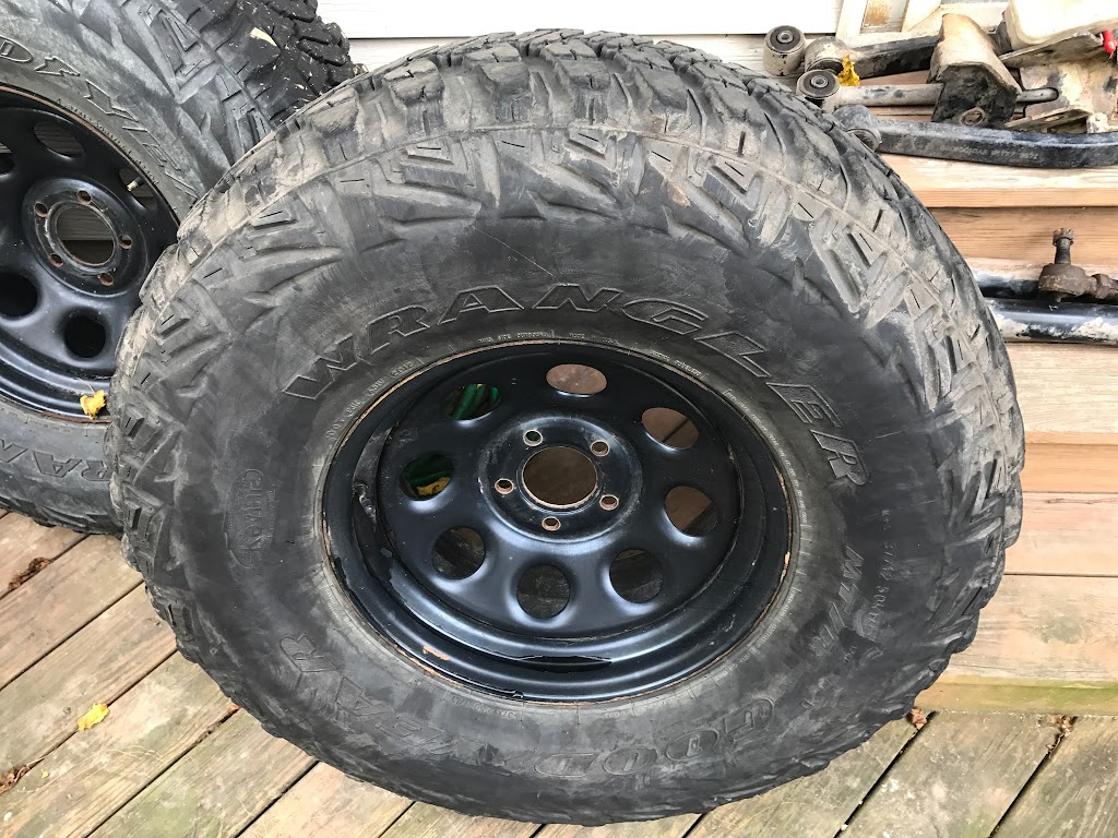 For Sale: Goodyear MTR 37x12.5x17 on Jeep JK 5x5 **Maryland**