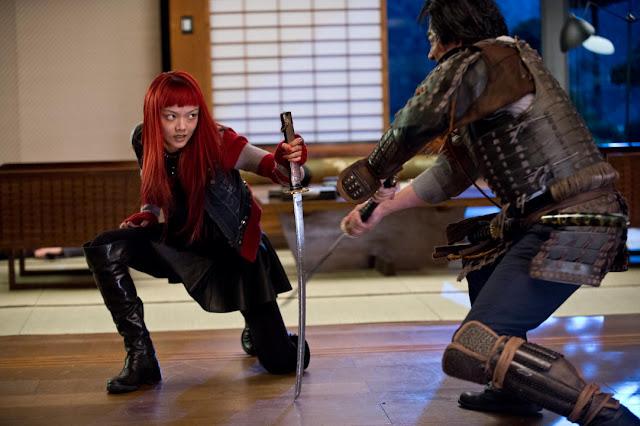 The Wolverine Yukio (Rila Fukushima) fights Shingen (Hiroyuki Sanada)