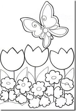 11flores primavera colorear  (37)