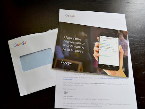 Carta promocional Google