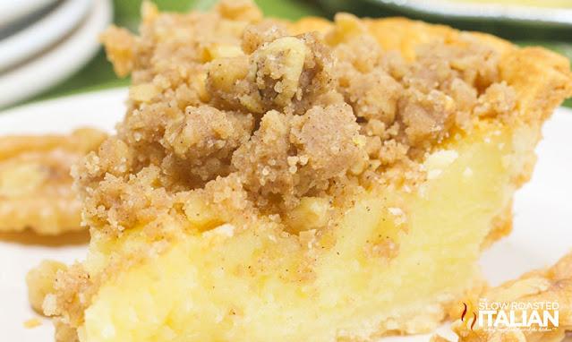 close up of buttermilk pie