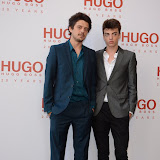 WWW.ENTSIMAGES.COM -  Fenton and Sascha Bailey   attending  HUGO: RED NEVER FOLLOWS - private view / party of exhibition to celebrate 20th anniversary of Hugo Boss, featuring the brand's RED NEVER FOLLOWS project which saw it collaborate with 20 'urban creatives' from around the world July 30th 2013                                                     Photo Mobis Photos/OIC 0203 174 1069