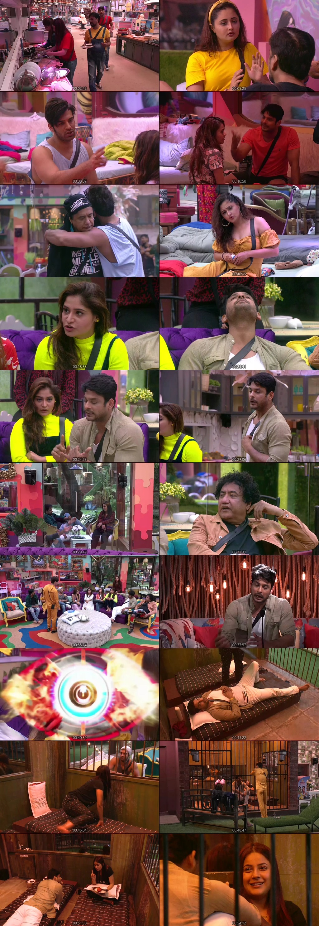 Screenshots Of Hindi Show Bigg Boss 13 17th October 2019 Episode 18 300MB 480P HD