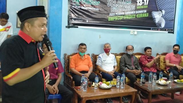 Gelar BMPN Cup I, M Fikar Datuk Rajo Magek Ingin Membangkitkan Semangat Berolahraga.