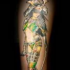 arm girl - Samurai Tattoo & Warrior Tattoos