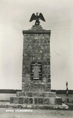 Монумент, посвященный боям в Освободительной войне(из фондов Эст. архива фильмов EFA.0-40602p)