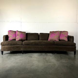 Brown Ultrasuede Bean Sofa