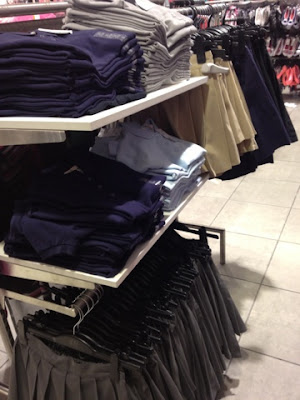 school uniforms at H&M