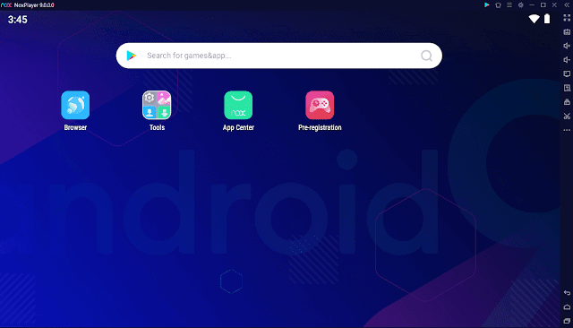Nox player Android 9