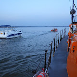 View of the motor cruiser under tow - 31 October 2014. Photo credit: Dave Riley