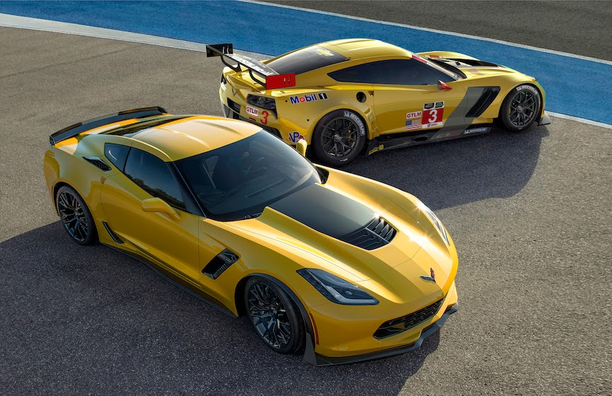 2015 Chevrolet Corvette Z06 and C7R