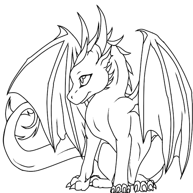 Iphoneiphone Ipadfull  Coloring Page  Dragon