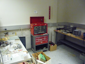 Photo: Tool and workbench area.