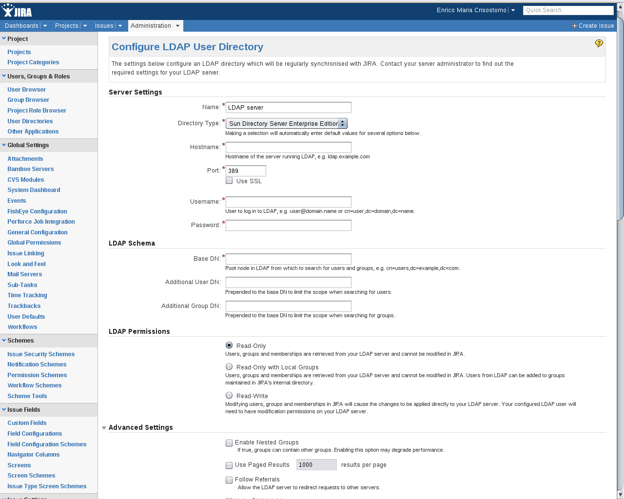 Ldap search parameters