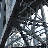 underneath Granville Bridge in Vancouver, British Columbia, Canada