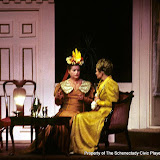 Marion McKendree and Joanne Westervelt in LADY WINDERMERE'S FAN - January/February 1976.  Property of The Schenectady Civic Players Theater Archive.