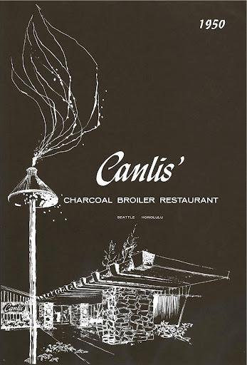 Canlis debut menu: 1950