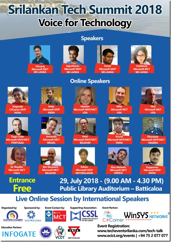 Sri Lankan Tech Summit Suhail Jamaldeen Suhail Cloud SuhailCloud