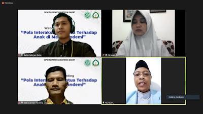 LPPKS BKPRMI Sumatera Barat Adakan Webinar Parenting: Pola Interaksi Orangtua terhadap anak di Masa Pandemi