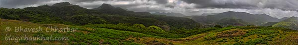 Beautiful Panorama HDR Photo taken on Tamhini Ghat Trek
