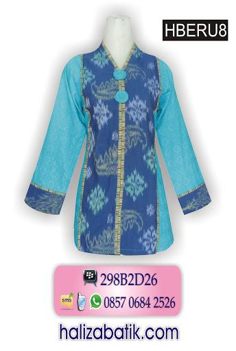 blus batik modern, batik baju, batik wanita modern