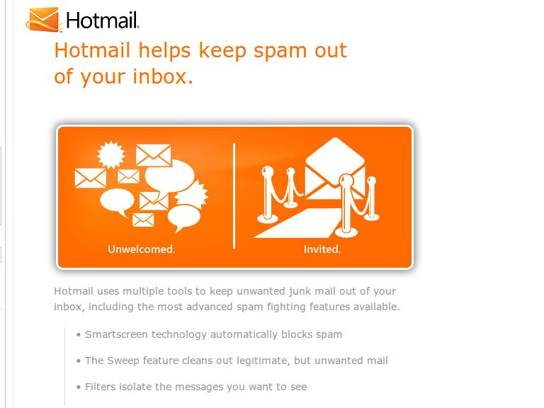 Hotmail Spam counter measures