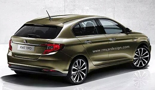 render fiat tipo hatchback. Black Bedroom Furniture Sets. Home Design Ideas