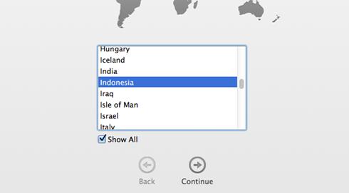 Pilih negara Anda mac os x