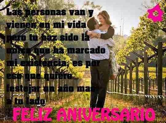 Mi vida feliz aniversario los mejores deseos