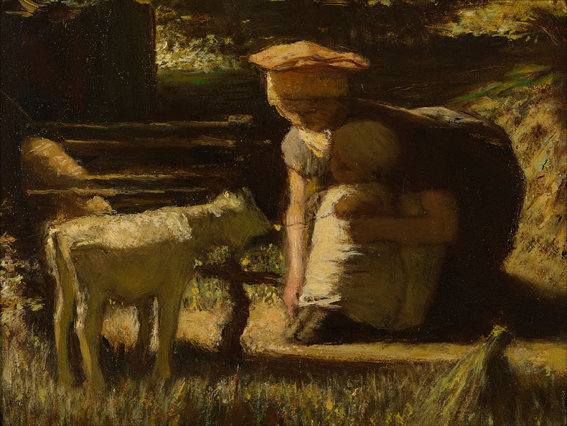 Matthijs Maris - Getting acquainted (The little goat) - Google Art Project.