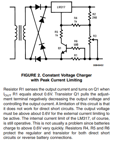 Constant Voltage Charger with Peak Current Limiting