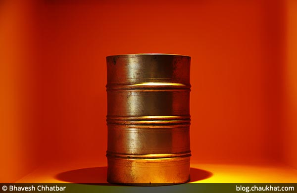 Antique tiffin vessels on display at Savya Rasa [Koregaon Park, Pune]