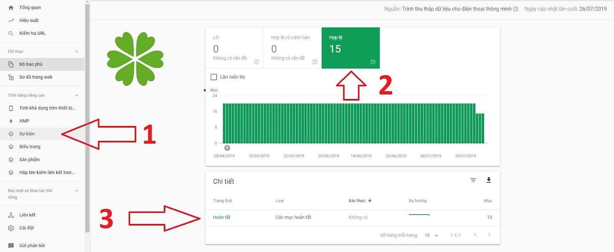 Dữ liệu có cấu trúc trong Google Search Console