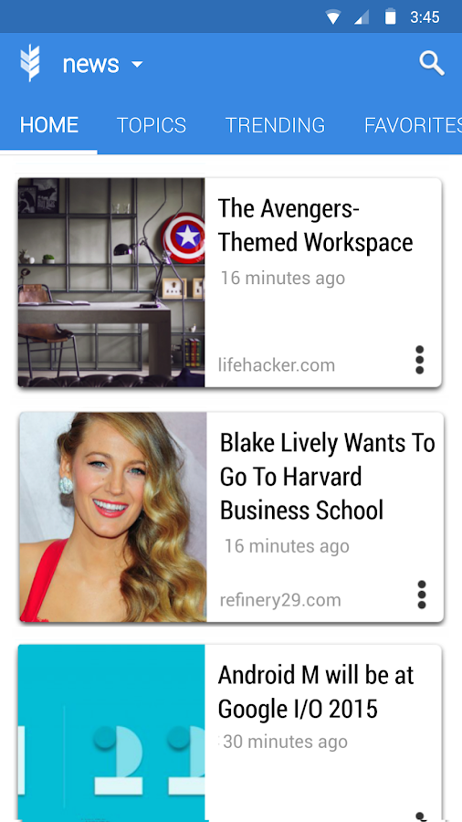 Glean News Reader- screenshot