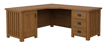 Mission L-Shaped Desk