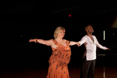 Barbara Muller and profesional dancer and her teacher : Jean Michel Erole