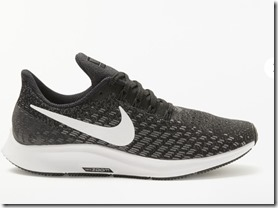 Nike Air Zoom Pegaasus 35 in black and gunsmoke