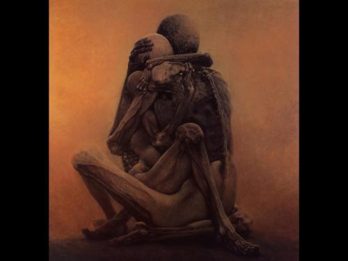 Zdzislaw Beksinski Dead Love, Death