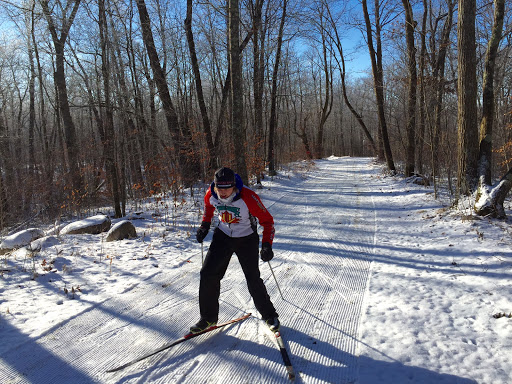 "Early season skiing on a super thin base. We need 2-3"" additional snow to officially open the trails for safe skiing. The thin base we have is a great start and ready for the next snowfall."
