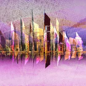 generative digital art cityscape