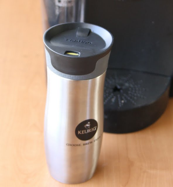 photo of a keurig coffee travel mug