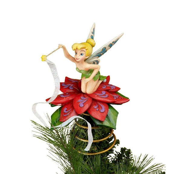 Disney Traditions designed by Jim Shore for Enesco Tinker Bell Tree Topper 8 IN
