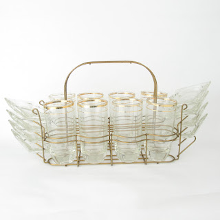 Mid Century Glass Caddy