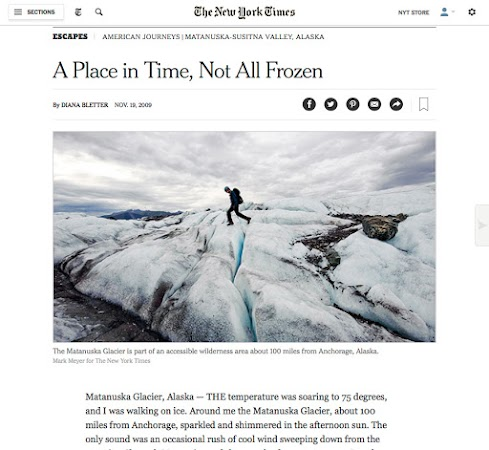 Alaska's Matanuska Valley for the New York Times